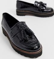 Meze Chunky Fringed Leather Loafers