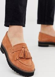 Meze Chunky Fringed Suede Loafers