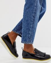 Mimi Leather Flatform Loafers