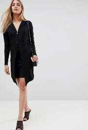 Mini Blazer Dress With Gold Buttons