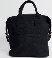 Mini Canvas Backpack With Double Handle