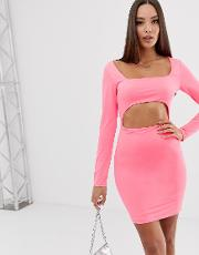 Mini Dress With Cut Out