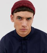 Mini Fisherman Beanie Burgundy Recycled Polyester