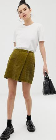 Mini Skirt With Wrap Cord