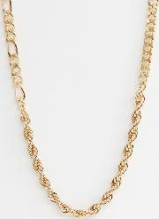 Mixed Chain Necklace Tone