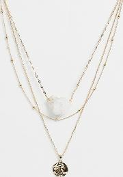 Multirow Necklace With Semi