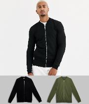 Muscle Jersey Bomber Jacket 2 Pack