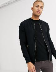Muscle Jersey Bomber Jacket