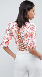 Occasion Top With Lattice Back