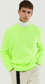Oversized Cable Knit Jumper