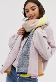 Oversized Long Woven Scarf