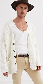 Oversized Ribbed Cardigan