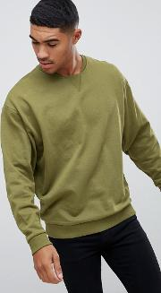Oversized Sweatshirt With Cut Out Neck Detail