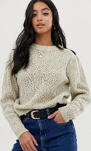 Petite Chunky Jumper With Stitch Detail