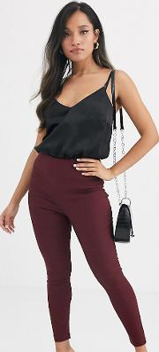 Petite High Waist Trousers Skinny Fit Rioja