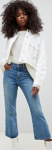 Petite Recycled Egerton Rigid Cropped Flare