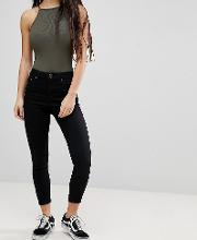 Petite Ridley High Waisted Skinny Jeans Clean