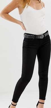 Petite Whitby Low Rise Skinny Jeans Clean