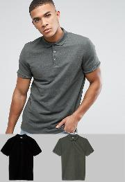 Pique Polo 2 Pack Pack Saving