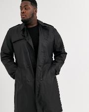 Plus Double Breasted Trench Coat