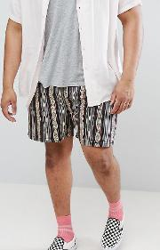 Plus Festival Slim Shorts With Elasticated Waistband