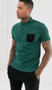 Polo Shirt With Contrast Pocket