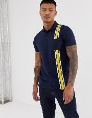 Polo Shirt With Contrast Tape
