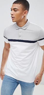Polo Shirt With Cut And Sew Panels