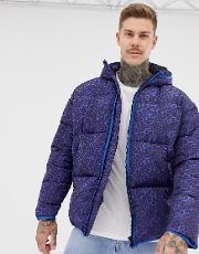 Puffer Jacket With Leopard Print