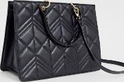 Quilted Boxy Tote Bag With Tablet Compartment