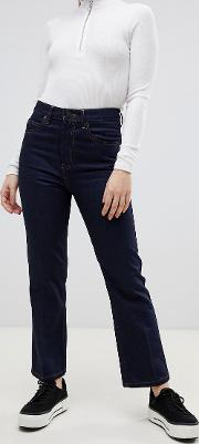 Recycled Egerton Rigid Cropped Flare Jeans