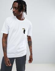 relaxed t shirt with toucan chest patch