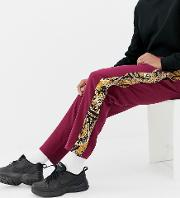 Relaxed Trousers With Paisley Side Poppers
