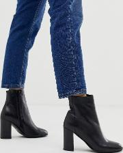 Rescue Leather Block Heel Boots