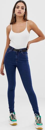 Ridley High Waist Skinny Jeans Deep Wash