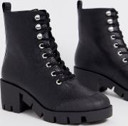 Ripple Chunky Lace Up Boots