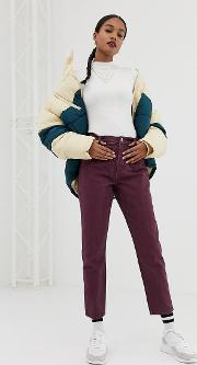 Ritson Mom Jeans With Waist Seam Detail