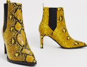 Romeo Pointed Heeled Boots Snake