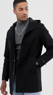 Shower Resistant Hooded Trench Coat