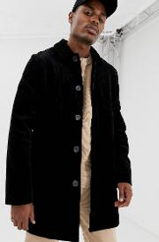 Single Breasted Cord Trench Coat