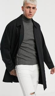 Single Breasted Lightweight Trench Coat