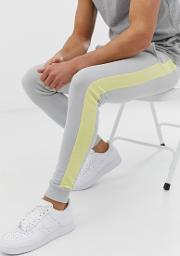 Skinny Joggers With Side Stripe