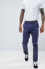 Slim Chinos Dark Wash With Turn Up