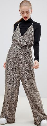 Strappy Wrap Front Jumpsuit