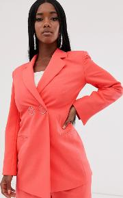 Strong Shoulder Suit Blazer