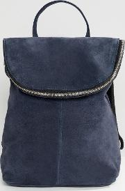 Suede Mini Foldover Backpack