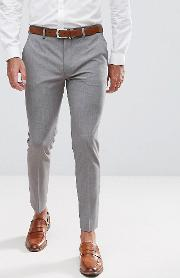 Super Skinny Cropped Smart Trousers Mid