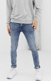 Super Skinny Jeans Overdye Acid Wash