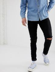 Super Skinny Jeans With Knee Rips