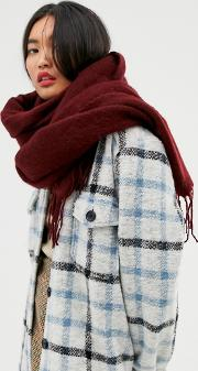 Supersoft Long Woven Scarf With Tassels